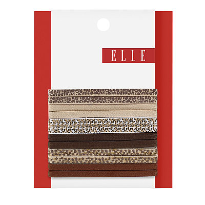 ElleAnimal Print No Crimp Elastics 6 Ct