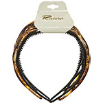 Riviera Black/Tortoise 2-Piece Headband Set