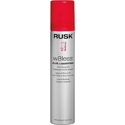 Rusk Travel Size W8less Plus Extra Strong Hold Shaping and Control Hairspray