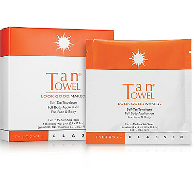 Tan Towel Self-Tan Towelette Full Body Application For Face %26 Body