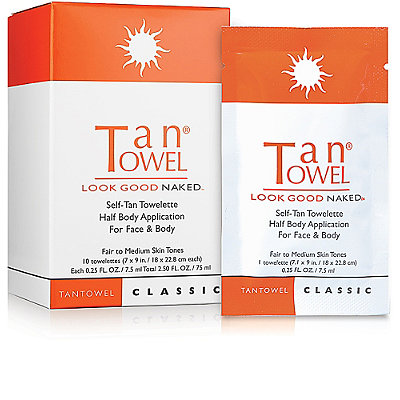 Tan Towel Self_Tan Towelette Half Body Application For Face & Body