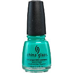 China Glaze Nail Lacquer with Hardeners Turned Up Turquoise (Neon)