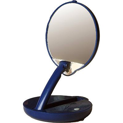 Floxite Mirror Mate Lighted%2C Adjustable Compact 15x