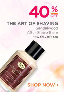 40% off The Art of Shaving Sandalwood After Shave Balm. Now $24, regular $40. Shop Now.