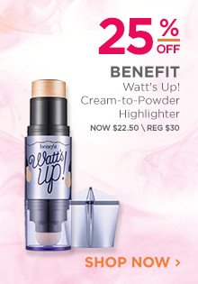 25% off Benefit Watt's Up! Cream-to-Powder Highlighter. Now $22.50, regular $30. Shop Now.