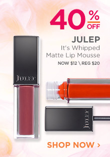 40% off Julep It's Whipped Matte Lip Mousse. Now $12, regular $20. Shop Now.