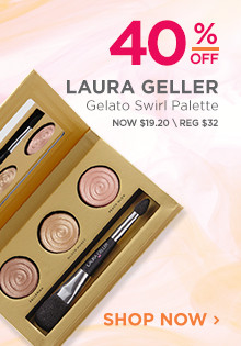 40% off Laura Geller Gelato Swirl Palette Highlighter. Now $19.20, regular $32. Shop Now.