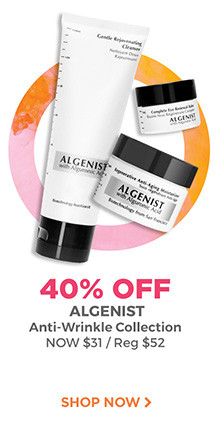 40% off the Algenist Anti-Wrinkle Collection, now $31, regular $52. Shop now.