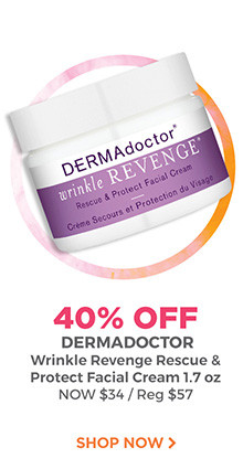 40% off Dermadoctor Wrinkle Revenge Rescue & Protect Facial Cream 1.7 oz. is now $34, regular $57. Shop now.