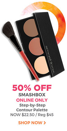 Online only, 50% off Smashbox Step-by-Step Contour Palette. Now $22.50, regular $45. Shop now.