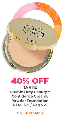 40% off Tarte Double Duty Beauty Confidence Creamy Powder Foundation is now $21, regular $35. Shop now.