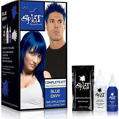 splat hair color plete kit blue envy dark brown hairs