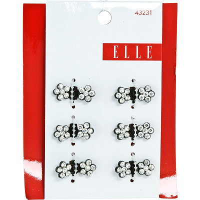 ElleBlack with Stones Mini Hair Clip Set