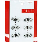 Elle Black with Stones Mini Hair Clip Set
