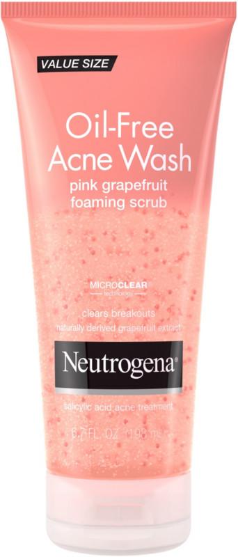 Neutrogena Oil Free Acne Wash Pink Grapefruit Foaming Scrub Ulta Beauty