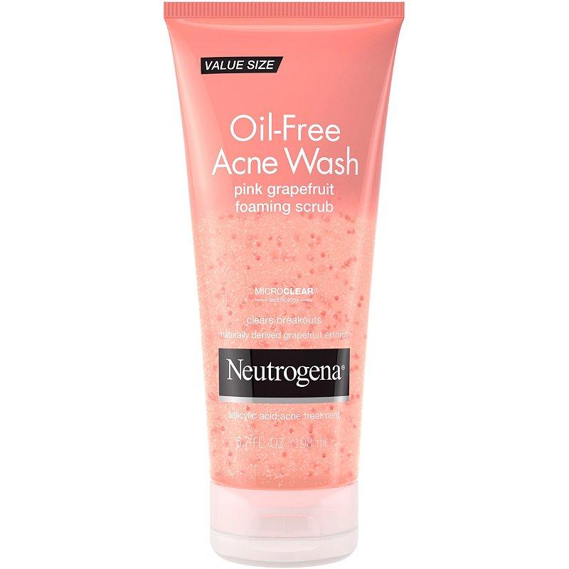 Neutrogena Oil Free Acne Wash Pink Grapefruit Foaming Scrub Ulta
