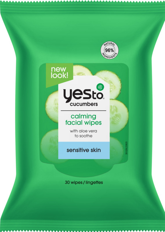 Yes to Cucumber Soothing Cleansing Facial Wipes elemental herbology harmonising cleanse facial cleansing oil, 3.4 fl oz