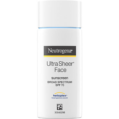 NeutrogenaUltra Sheer Liquid Sunblock Broad Spectrum SPF 70