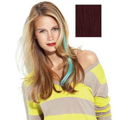 PopHuman Hair Color Strips Extensions
