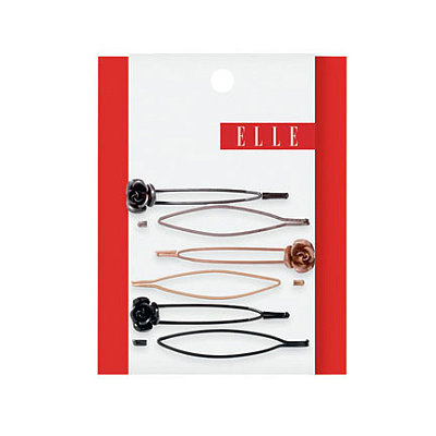 Elle Assorted Metal w/ Flower Bobby Pins