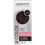 Umberto U Color Italian Demi Color Kit 3.0 Darkest Brown