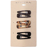 Riviera Neutral Metallic Snap Clips 6 Ct