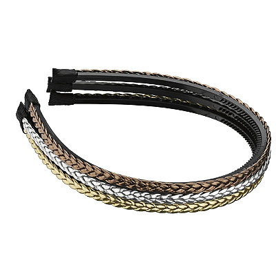 Elle Braided Metallic Headband