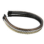 ElleBraided Metallic Headband 3 ct.
