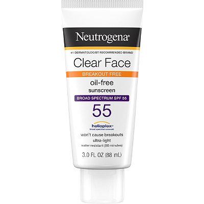 NeutrogenaClear Face Liquid-Lotion Sunblock SPF 55