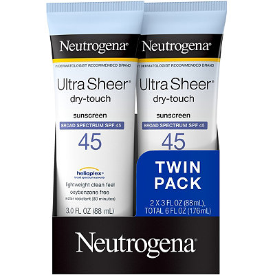 Neutrogena Ultra Sheer SPF 45 Twin Pack