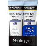 Neutrogena Ultra Sheer SPF 45 Twin Pack (Packaging may vary)