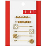 Gold Rosettes Bobby Pins