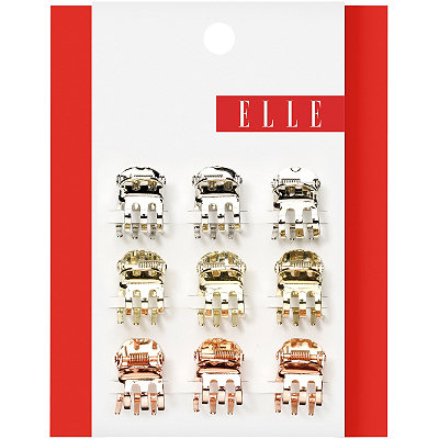 Elle Mini Tri-gold Metal Jaw Clip