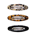 Riviera Open Oval Barrette 3 Ct