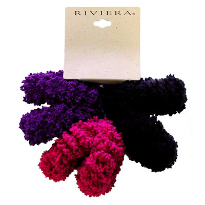 Riviera Fluffy Ponytail Holders Set