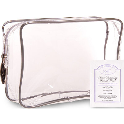 BelliOnline Only FREE Belli Cosmetic Bag w/ Acne Cleansing Facial Wash sample w/any $30 Belli purchase