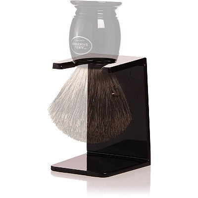 The Art of Shaving Black Brush Stand