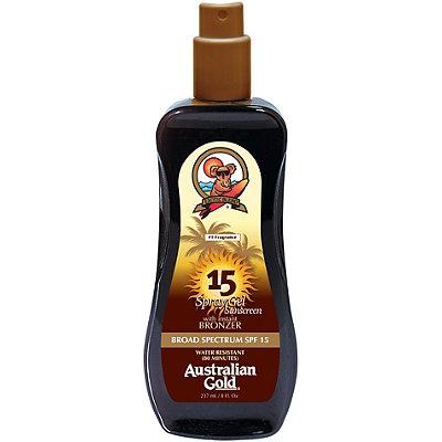 Spray Gel w/ Instant Bronzer SPF 15