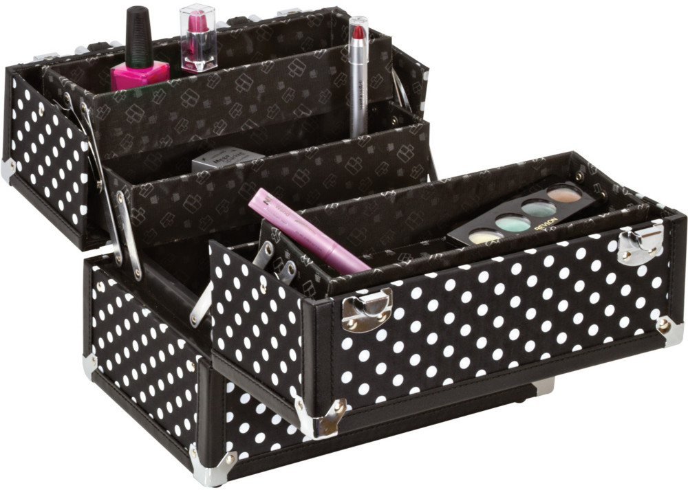 b3234cdc7e Caboodles Black White Dots 10   Case
