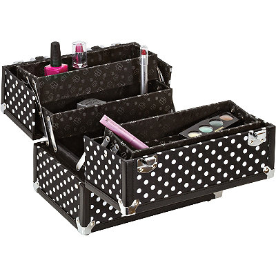 Caboodles Black%2FWhite Dots 10%22 Case