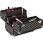 Caboodles Black/White Dots 10'' Case