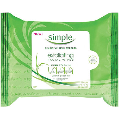 Simple Kind To Skin Exfoliating Wipes