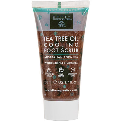 Earth Therapeutics Travel Size Tea Tree Oil Cooling Foot Scrub