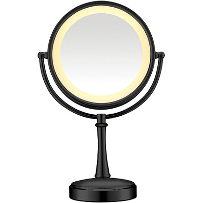 Conair Black Touch Control Lighted Makeup Mirror