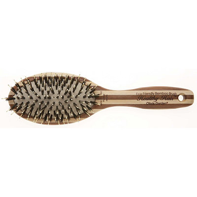 Olivia Garden Healthy Hair Eco-Friendly Bamboo Professional Ionic Combo Paddle Brush
