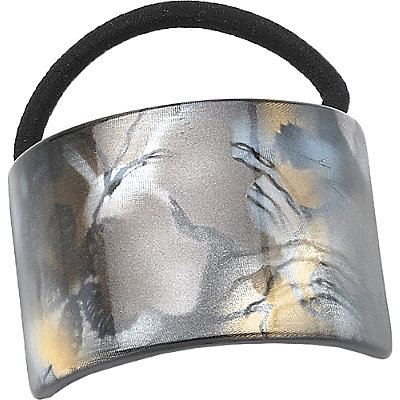 Karina Natural Metallic Print Ponytail Holder