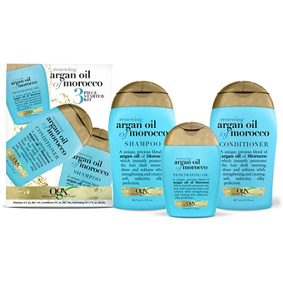 OGX Renewing Moroccan Argan Oil 3 Pc Starter Kit