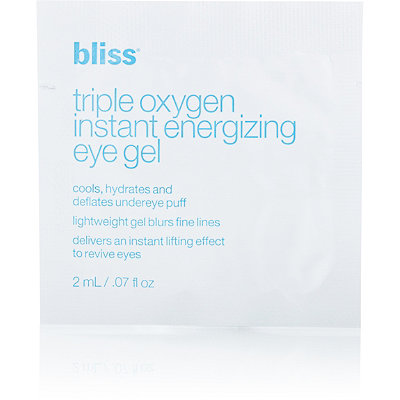 Bliss FREE Triple Oxygen Instant Energizing Eye Gel sample with any Bliss purchase
