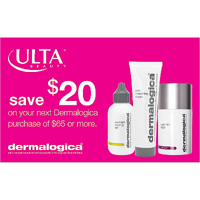 Dermalogica Get $20 toward your next purchase of Dermalogica with any $65 Dermalogica purchase