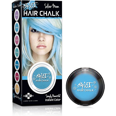 splat hair chalk highlights silver moon 8 99 splat dark brown hairs